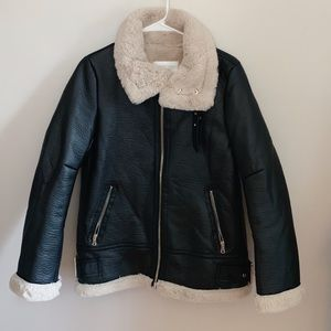 Fur Lined Leather Jacket